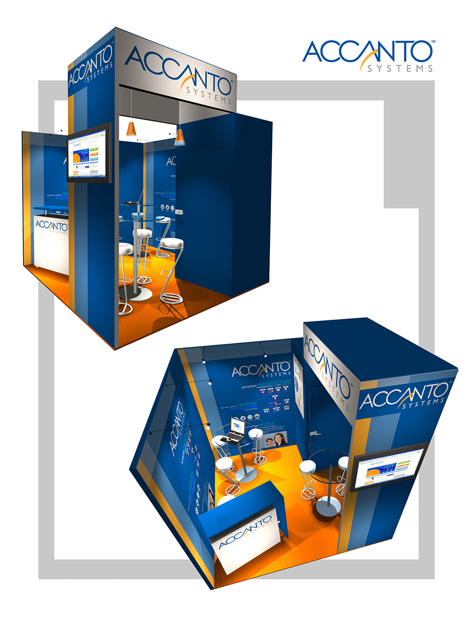 Accanto Systems Booth Graphics by Moving Pixels Creative - Colorado Graphic Design and Web Design