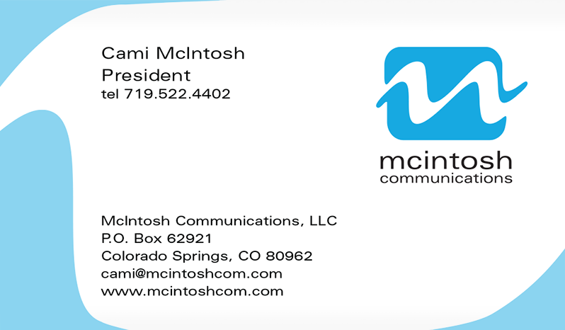 McIntosh Communications Business Card