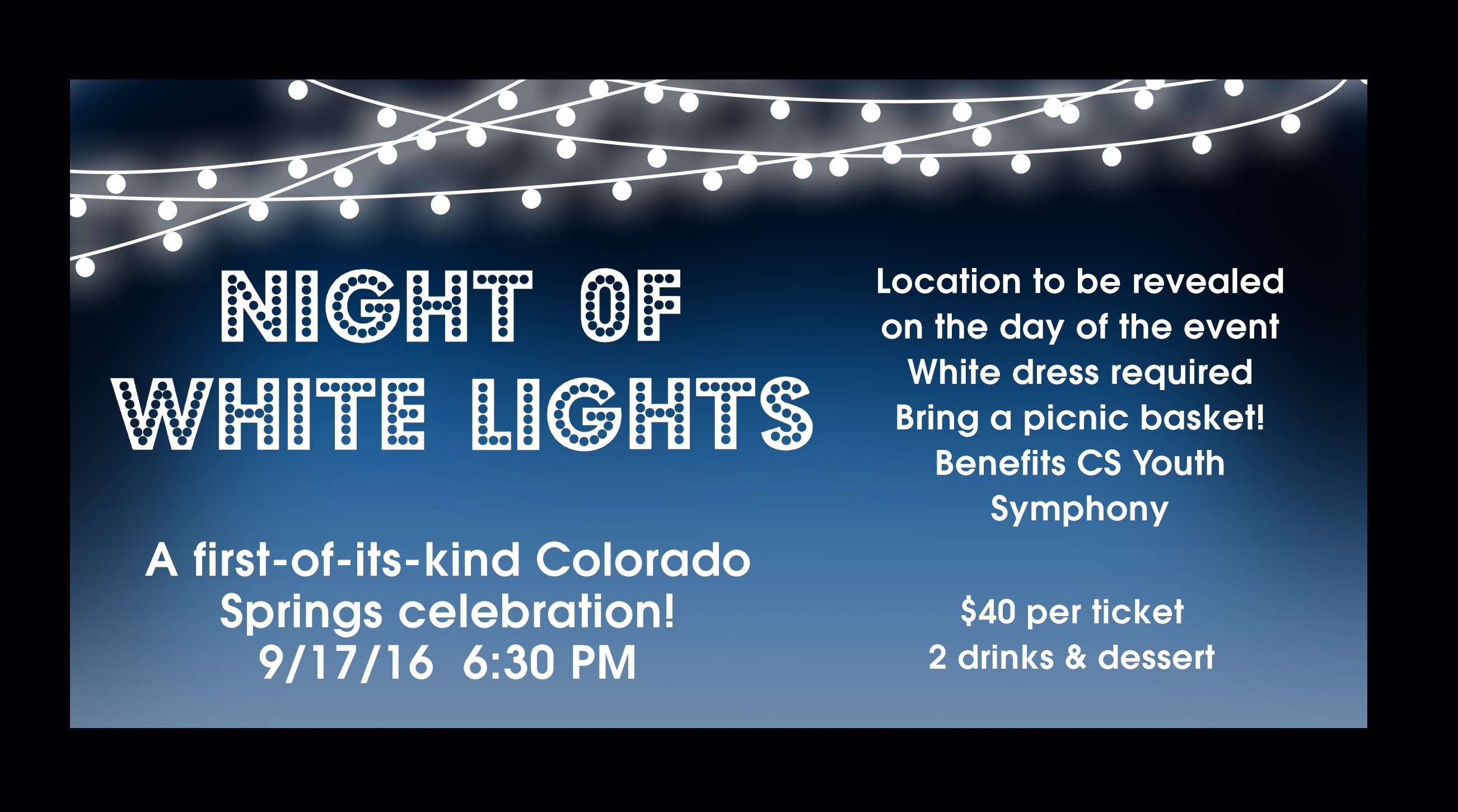 Night of White Lights Advertising by Moving Pixels Creative - Colorado Graphic Design and Web Design